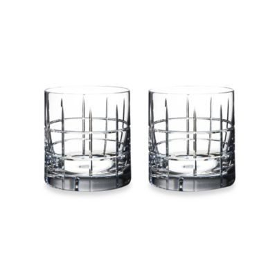 Orrefors Street 13-Ounce Double Old-Fashioned Glasses (Set of Two)