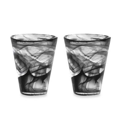 Kosta Boda Mine Tumblers in Black (Set of 2)