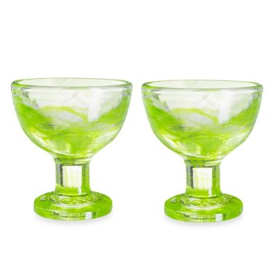 Kosta Boda Mine Coupe Dessert Bowls in Lime (Set of 2)