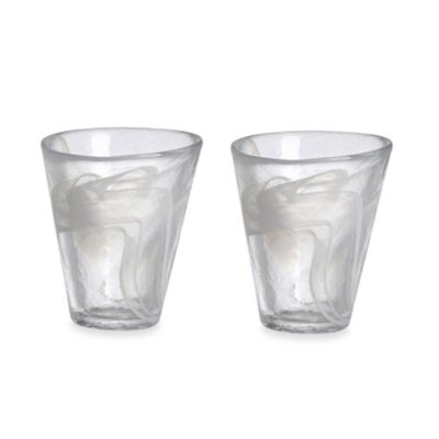 Kosta Boda Mine Tumblers in White (Set of 2)