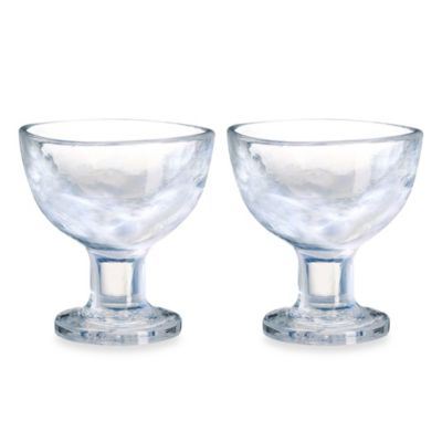 Kosta Boda Mine Coupe Dessert Bowls in White (Set of 2)