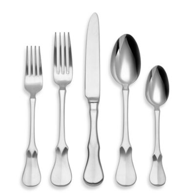 Ricci® Argentieri Violino Satin Stainless Steel 5-Piece Place Setting