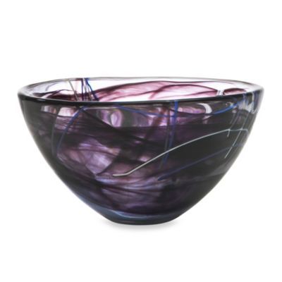 Kosta Boda Contrast Medium Bowl in Black