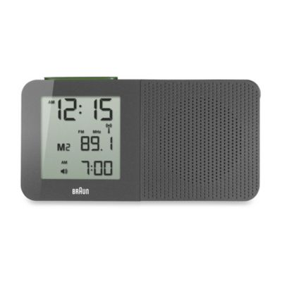 Braun® Digital Alarm Clock Radio in Grey