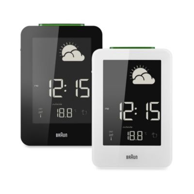 Braun® Weather Station Digital Alarm Clock in Black