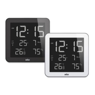 Braun® Digital Wall/Desk Clock in Black