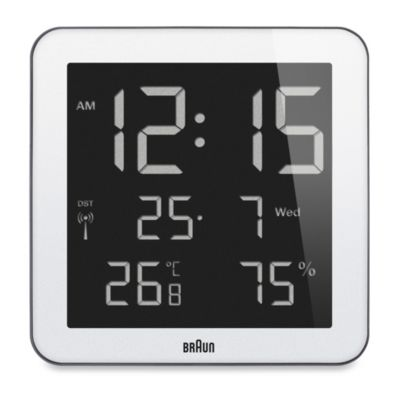 Braun® Digital Wall/Desk Clock in White