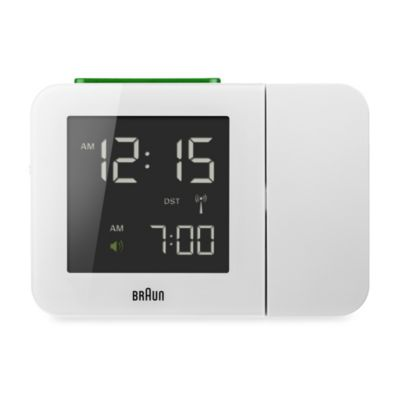 Braun® Digital Projection Alarm Clock in White