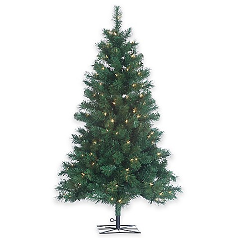 4-Foot x 29-Inch Spruce Trees Pre-Lit with 150 Lights