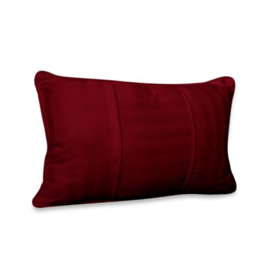 Wamsutta® 500 Damask Breakfast Pillow in Burgundy