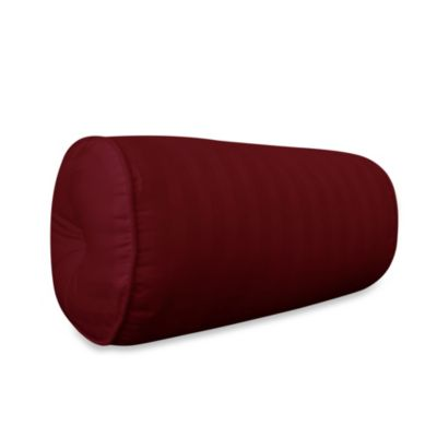 Wamsutta® 500 Damask Bolster Pillow in Burgundy