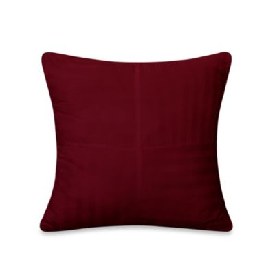 Wamsutta® 500 Damask Square Pillow in Burgundy