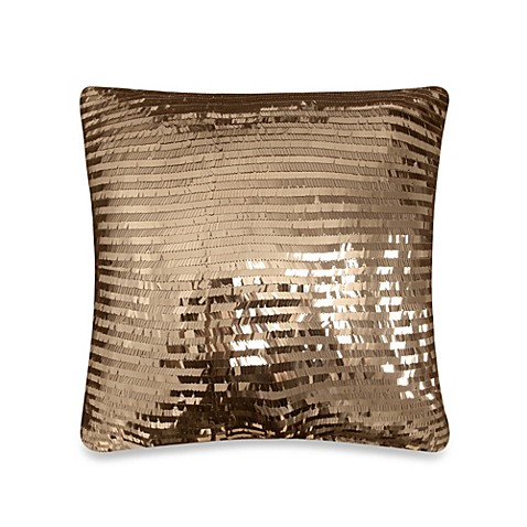 Diamonte Fashion Toss Pillow in Chocolate