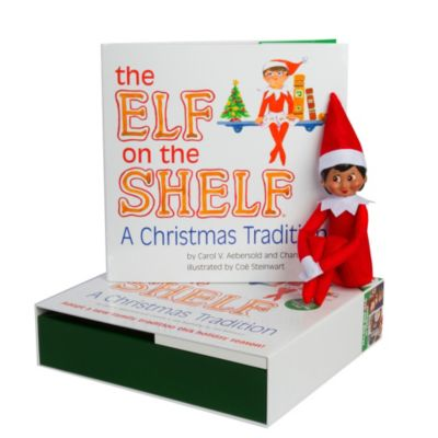 The Elf on the Shelf® A Christmas Tradition Book Set with Dark Skin Tone Girl Elf