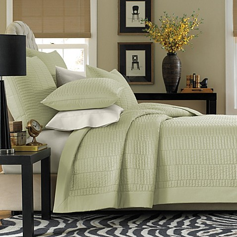 Real Simple Dune Coverlet in Sage