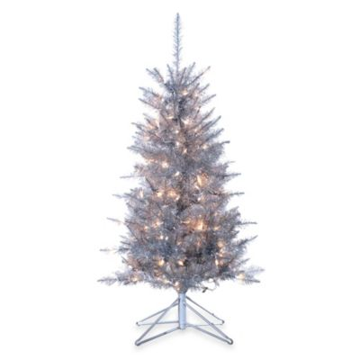 Lighted Tinsel Tree