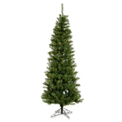 Vickerman 4-Foot 6-Inch Salem Pencil Pine Pre-Lit Christmas Tree with Clear Lights