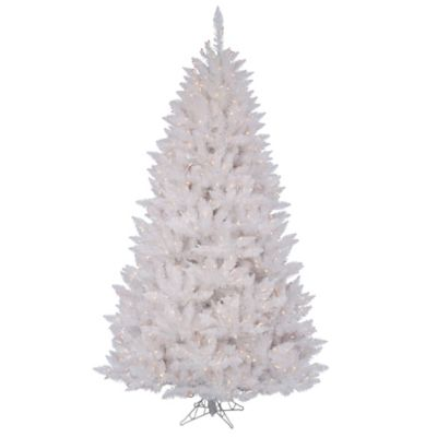 Vickerman 3.5-Foot Sparkle White Spruce Tree with Clear Lights