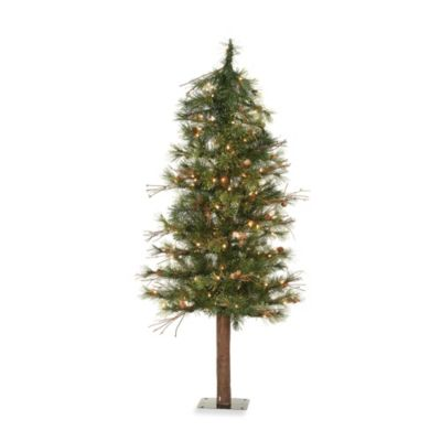 Vickerman 6-Foot Mixed Country Pine Tree with Clear Lights