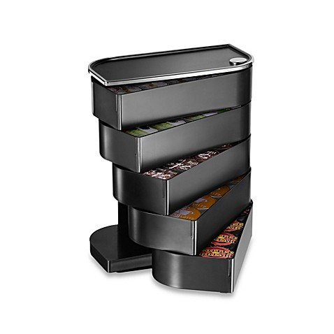 Mind Reader Eclipse Single Serve Coffee Swinging Drawer in Black (Holds 40 K-Cups)
