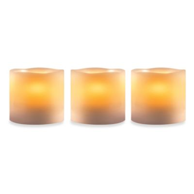 Loft Living Flameless Pillar Candles (Set of 3)