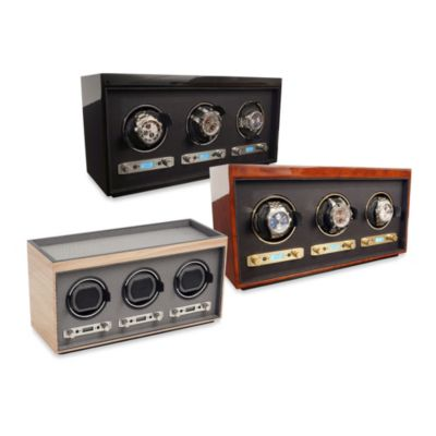 Meridian Triple Watch Winder in Brown