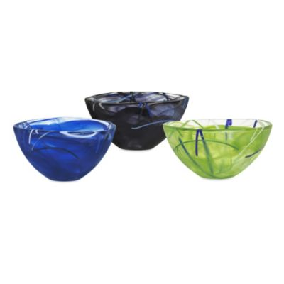 Kosta Boda Contrast Small Bowl in Blue