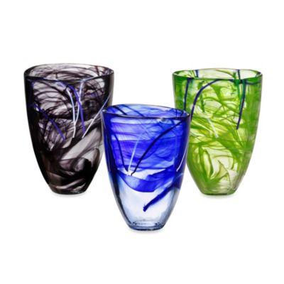 Kosta Boda Contrast Vase in Blue