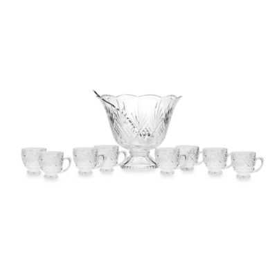 Godinger Dublin 10-Piece Punch Bowl Set