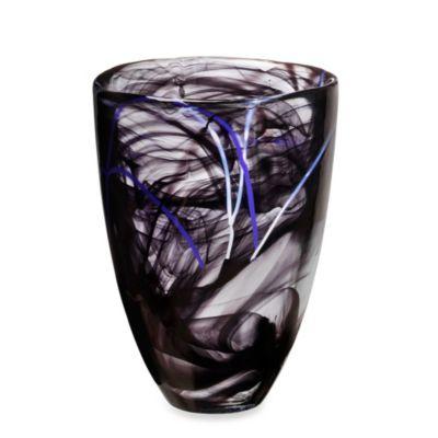Kosta Boda Contrast Vase in Black