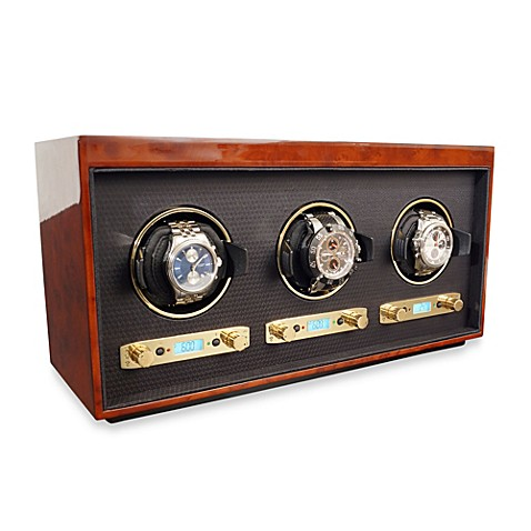 Wolf Designs Meridian Triple Watch Winder