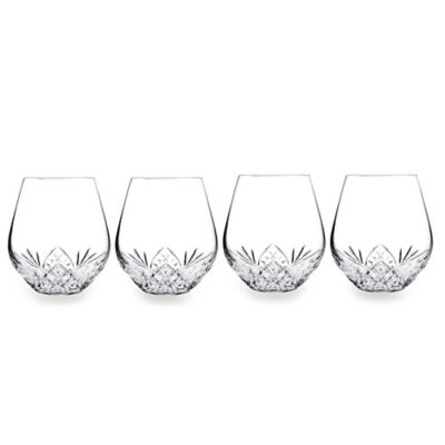 Godinger Silver Dublin Stemless Wine Goblets (Set of 4)