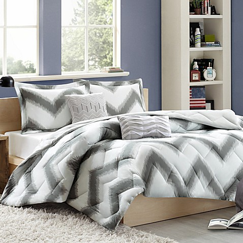 Cozy Soft® Chevron Reversible 4-5 Piece  Comforter Set