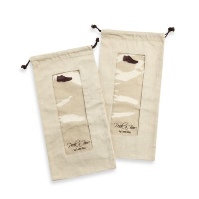 Peek-a-boo by Leslie Hsu Men's Shoe Bag in Khaki (Set of 2)