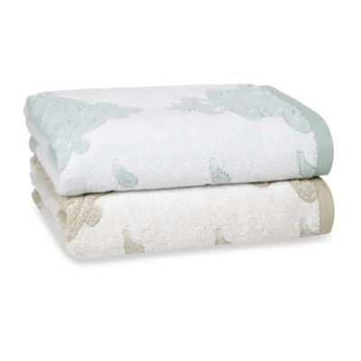 Kassatex Roma Bath Towel in Seafoam