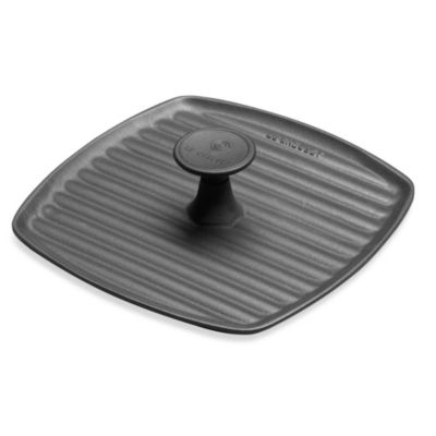 Le Creuset® 9-Inch Enameled Cast Iron Panini Press in Black