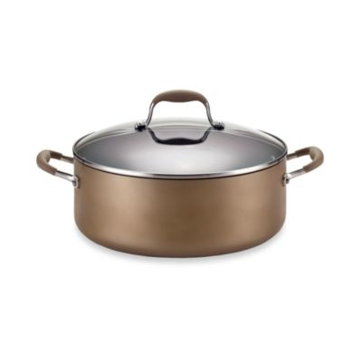 Anolon® Advanced Bronze Hard Anodized Nonstick 7 1/2-Quart Covered Wide Stockpot