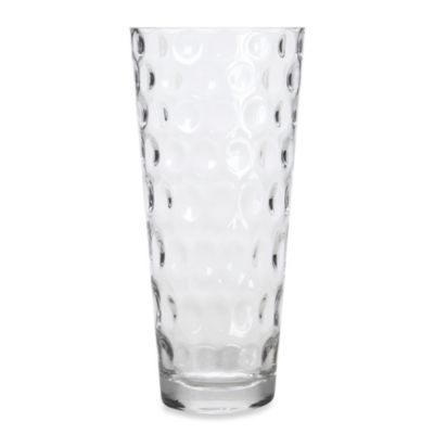 10-Inch Clear Bubbled Glass Vase
