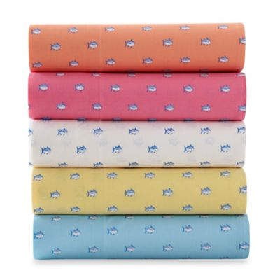 Southern Tide® Skipjack 200 Thread Count Twin Sheet Set in Sunset Pink