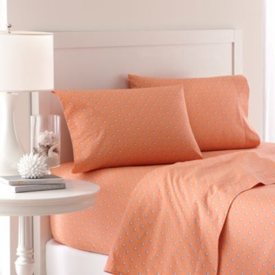 Southern Tide® Skipjack 200 Thread Count Queen Sheet Set in Sea Coral