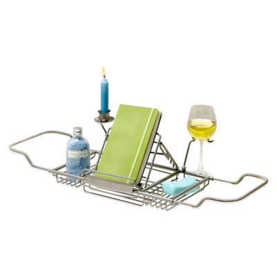 Across-the-Tub Satin Nickel Caddy