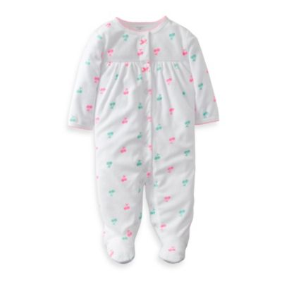 Carter's® White Cherry 1-Piece Footie