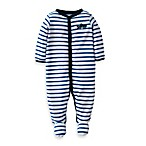 Carter's® Navy Stripe Shark 1-Piece Footie
