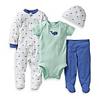 Carter's® 4-Piece Blue Whale Footie Set