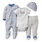 Carter's® 4-Piece Grey Ships Footie Set