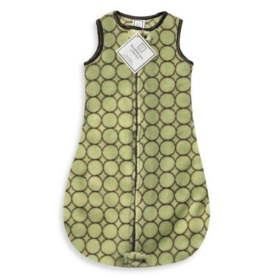 Swaddle Designs® Cozy zzZipMe Sack in Lime/Brown Mod Circles