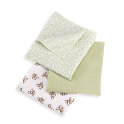 Summer Infant® 3-Pack SwaddleMe® Muslin Blankets in Go Bananas