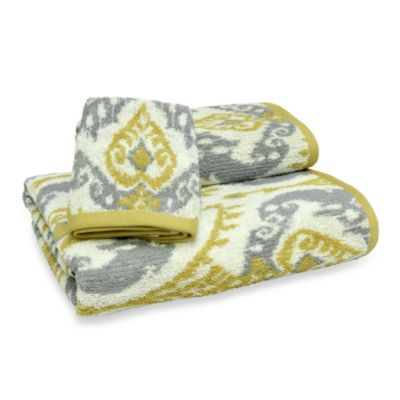 Mia Ikat Gold Bath Towel