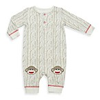 Baby Starters® Faux Print Monkey 1-Piece Coverall in Ivory