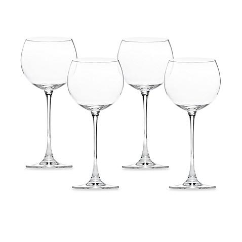 Lenox tuscany classics red wine glasses set of 4 bed bath beyond - Lenox colored wine glasses ...
